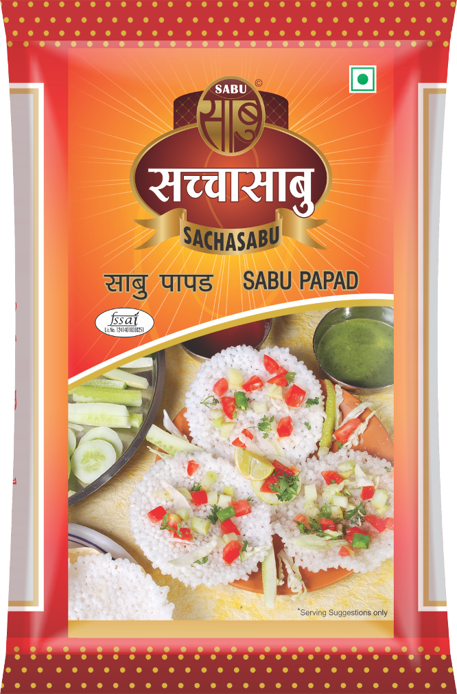 Sachasabu Sabu Papad Packet 480g